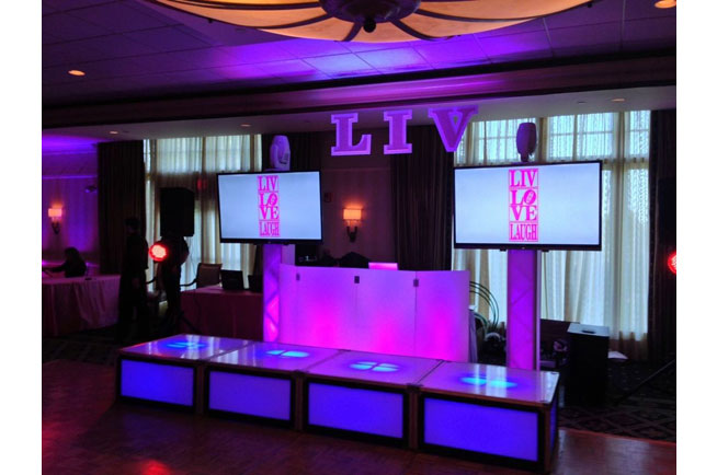 LED DJ Booth Event Ideas Party Rentals Boston New York