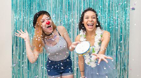 Girls Enjoying Carnival Theme Party